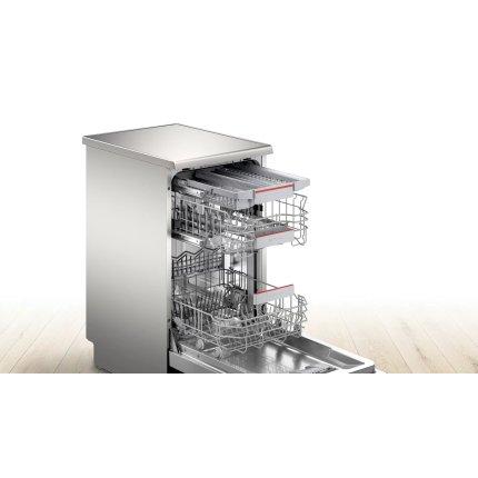 Masina de spalat vase Bosch SPS4EMI28E Serie 4, 10 seturi, 6 programe, 45cm, clasa A++, EfficientDry, Home Connect, silver inox anti-amprenta