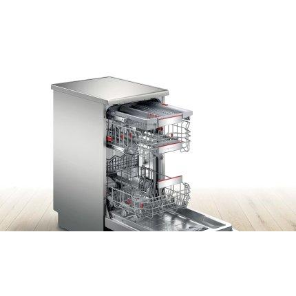 Masina de spalat vase Bosch SPS6ZMI35E Serie 6, 10 seturi, 8 programe, 45cm, clasa A+++, uscare cu Zeolith, silver inox anti-amprenta