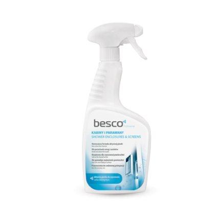 Solutie de curatare Besco pentru cabine dus si paravane cada sticla sau plastic