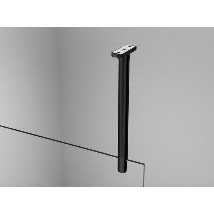 Cabina de dus Walk-in Sanswiss Easy Japan, profil negru, 140 cm, sticla 8 mm