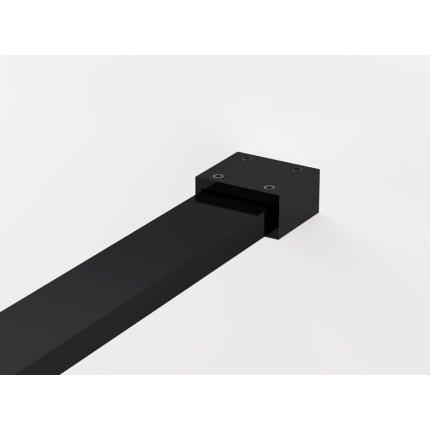 Cabina de dus Walk-in Sanswiss Easy Japan, profil negru, 160 cm, sticla 8 mm
