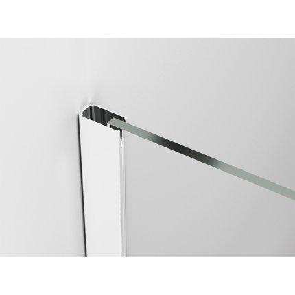 Cabina de dus Walk-in Sanswiss Easy Japan, profil alb, 140 cm, sticla 8 mm