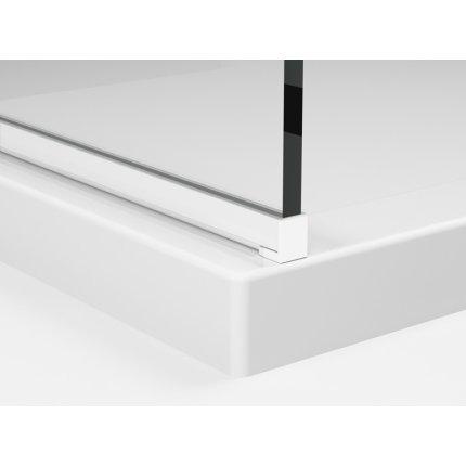 Cabina de dus Walk-in Sanswiss Easy Japan, profil alb, 90 cm, sticla 8 mm