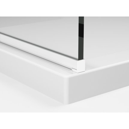 Cabina de dus Walk-in Sanswiss Easy Japan, profil alb, 100 cm, sticla 8 mm