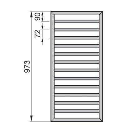 Radiator Zehnder portprosop Subway 1000x450 mm alb