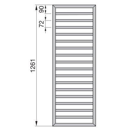 Radiator Zehnder portprosop Subway 1300x450 mm alb, functionare electrica