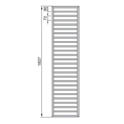 Radiator Zehnder portprosop Subway 1800x600 mm alb