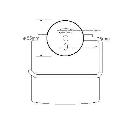 Suport hartie igienica cu aparatoare Bemeta Omega
