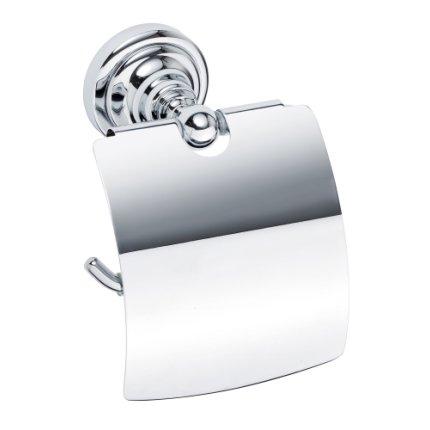 Suport hartie igienica cu aparatoare Bemeta Retro crom