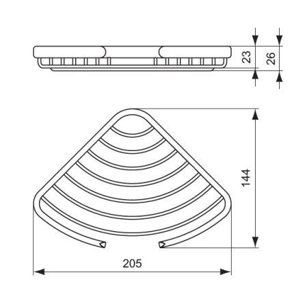 Suport sapun de colt Ideal Standard Connect Chrome