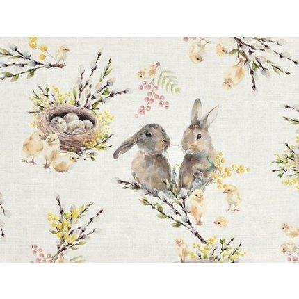 Fata de masa Sander Easter Sweet Rabbits 150x250cm, 40 original