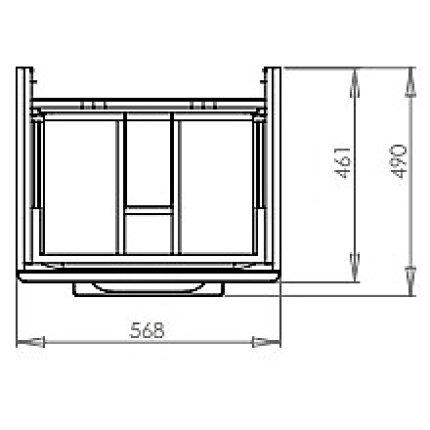 Set mobilier Kolo Traffic 60cm cu lavoar si dulap baza cu 2 sertare inchidere lenta, alb lucios