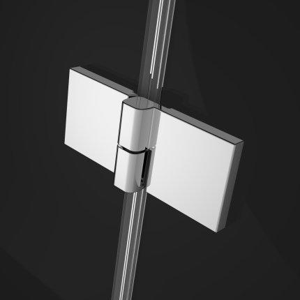 Usa batanta cabina Radaway Essenza New KDJ 80 cm profil crom, sticla clara, orientare stanga