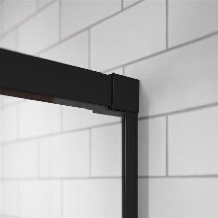 Perete lateral Radaway Idea Black S1 100 R dreapta, 100cm, profil negru