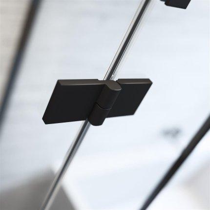 Usa de nisa batanta Radaway Essenza New Black DWJ 130x200cm deschidere stanga
