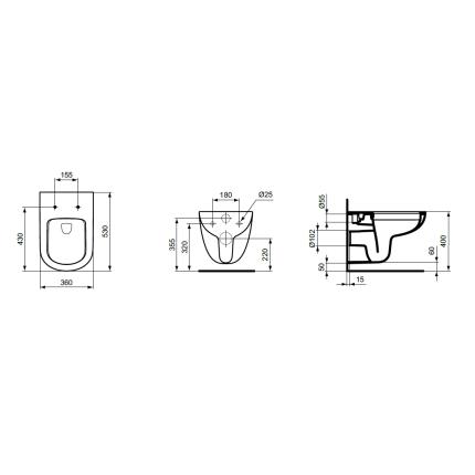 Vas WC suspendat Ideal Standard Tempo Rimless