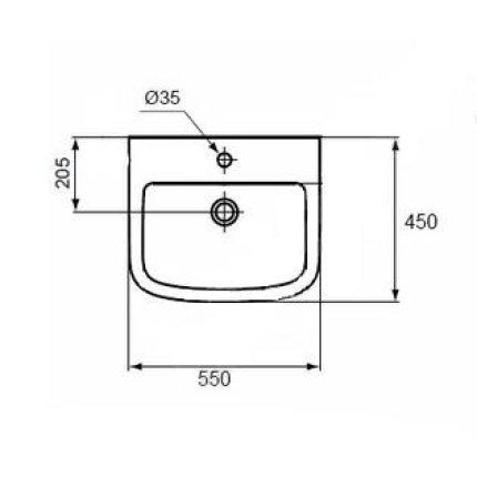 Lavoar Ideal Standard Tempo 55cm