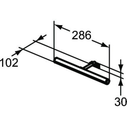 Iluminare oglinda Ideal Standard Irene LED, 1x6W, crom