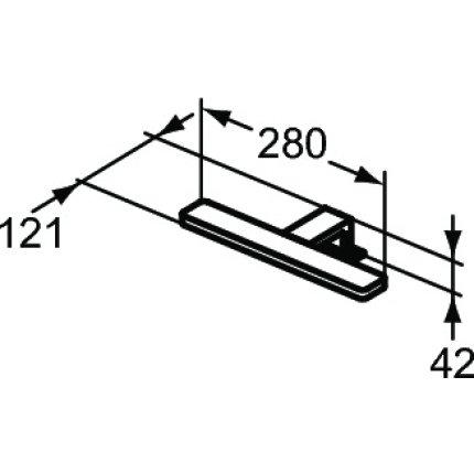 Iluminare oglinda Ideal Standard Pretty LED, 1x5.5W, crom