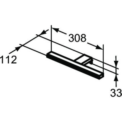 Iluminare oglinda Ideal Standard Pandora LED, 1x8W, 308mm, crom