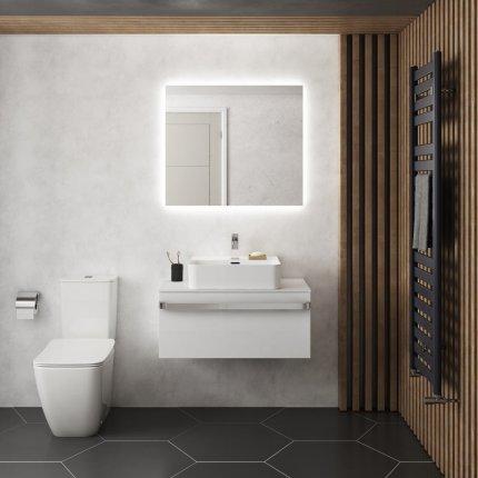 Oglinda Ideal Standard Mirror & Light Ambient cu iluminare LED, 80x70cm