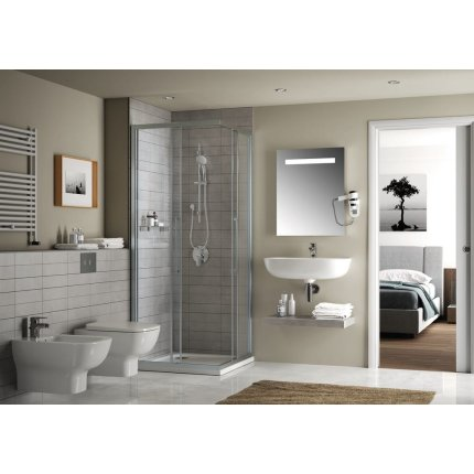 Oglinda Ideal Standard Mirror & Light cu iluminare LED mediana, 80x70cm