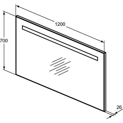 Oglinda cu iluminare LED Ideal Standard 120x70x2.6cm