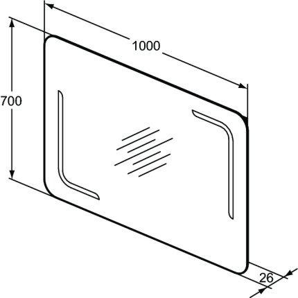 Oglinda cu iluminare LED Ideal Standard Ambient 100x70x2.6cm