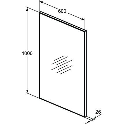 Oglinda Ideal Standard Mirror & Light H 60x100cm