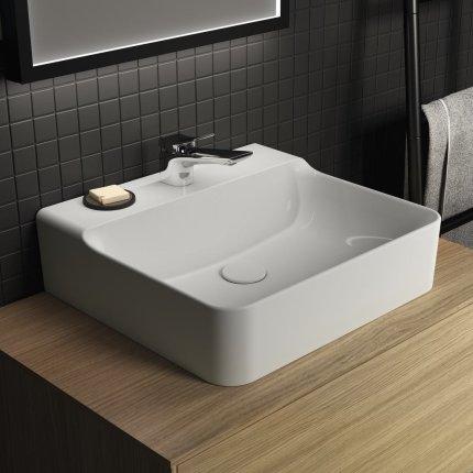 Lavoar Ideal Standard Conca 50cm, fara preaplin, montare pe mobilier, finisaj suplimentar spate