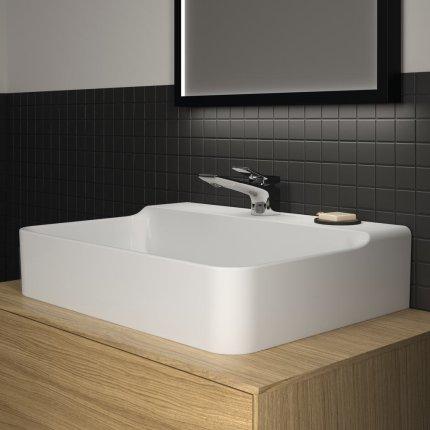 Lavoar Ideal Standard Conca 60cm, fara preaplin, montare pe mobilier, finisaj suplimentar spate