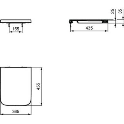Capac wc Ideal Standard Blend Cube cu inchidere lenta