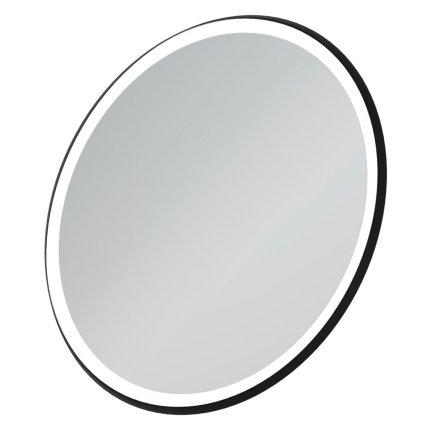 Oglinda rotunda Ideal Standard Conca 90cm, rama metalica si iluminare LED