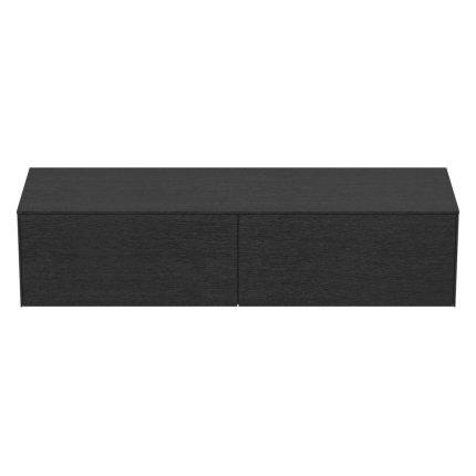 Dulap baza Ideal Standard Conca 160x50.5x37cm cu doua sertare, stejar inchis