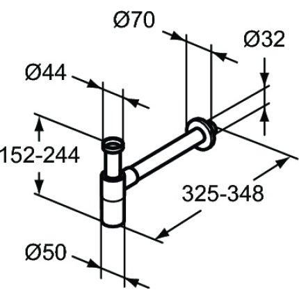 Sifon Ideal Standard T4441XG, negru mat