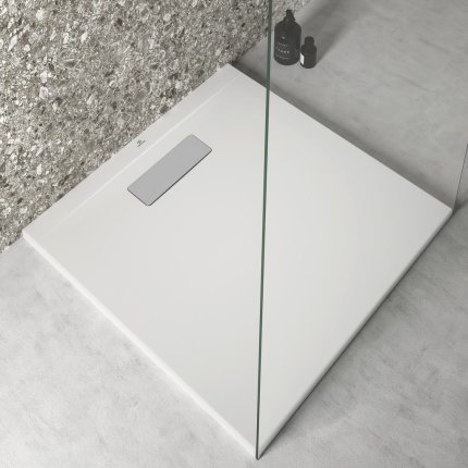 Cadita de dus joasa patrata Ideal Standard Ultra Flat New 70x70cm acril, alb