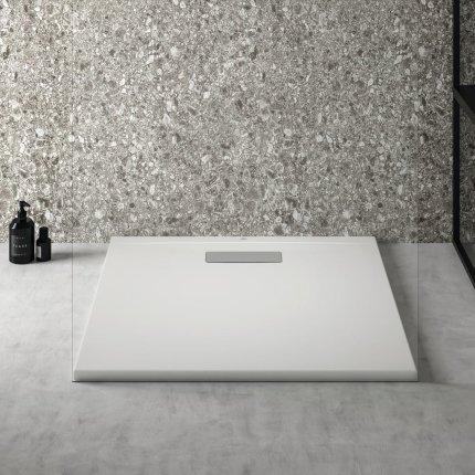 Cadita de dus joasa patrata Ideal Standard Ultra Flat New 80x80cm acril, alb mat