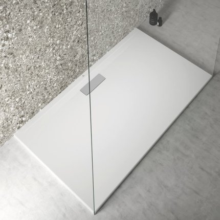 Cadita de dus joasa dreptunghiulara Ideal Standard Ultra Flat New 140x80cm acril, alb