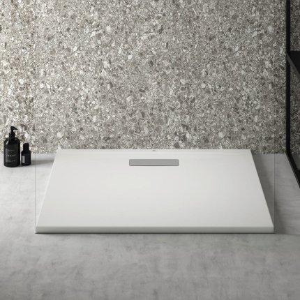 Cadita de dus joasa dreptunghiulara Ideal Standard Ultra Flat New 90x75cm acril, alb