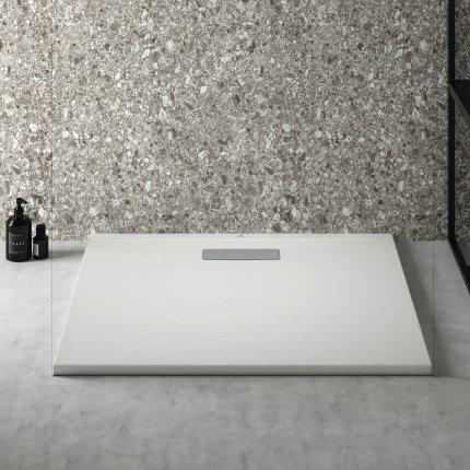 Cadita de dus joasa dreptunghiulara Ideal Standard Ultra Flat New 80x90cm acril, alb