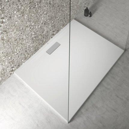Cadita de dus joasa dreptunghiulara Ideal Standard Ultra Flat New 120x90cm acril, alb