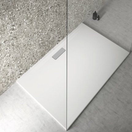Cadita de dus joasa dreptunghiulara Ideal Standard Ultra Flat New 140x90cm acril, alb