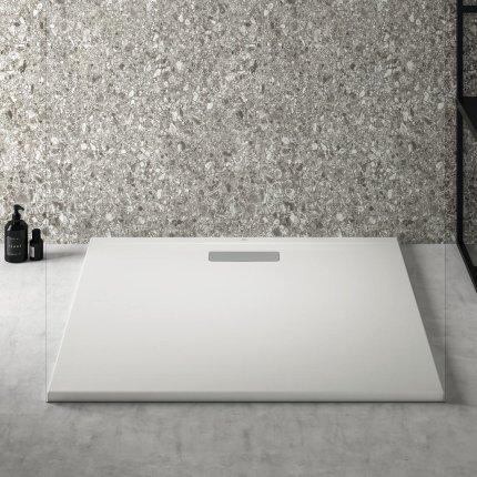 Cadita de dus joasa patrata Ideal Standard Ultra Flat New 100x100cm acril, alb mat