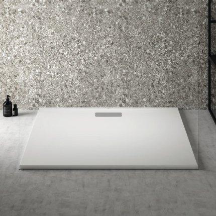 Cadita de dus joasa dreptunghiulara Ideal Standard Ultra Flat New 120x100cm acril, alb mat