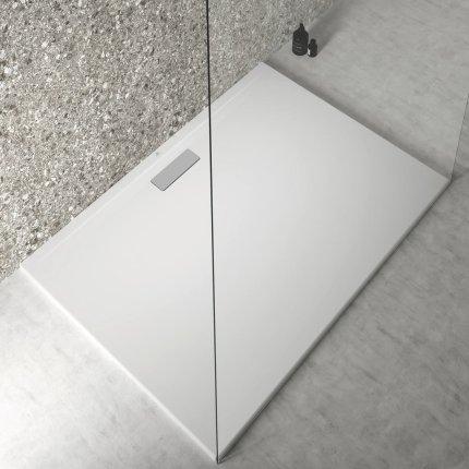 Cadita de dus joasa dreptunghiulara Ideal Standard Ultra Flat New 140x100cm acril, alb