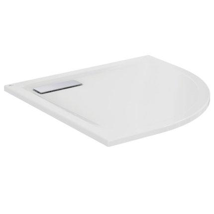 Cadita de dus joasa semirotunda Ideal Standard Ultra Flat New 80x80cm acril, alb