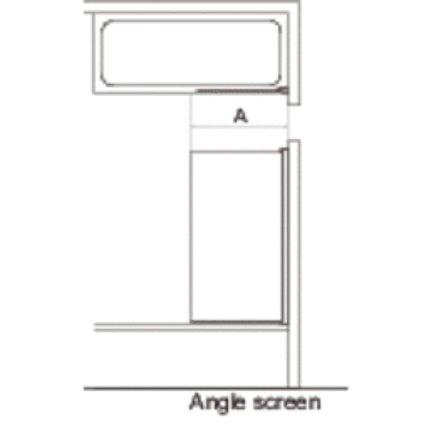 Paravan cada Ideal Standard Connect, un element mobil, 80x140cm, profil cromat