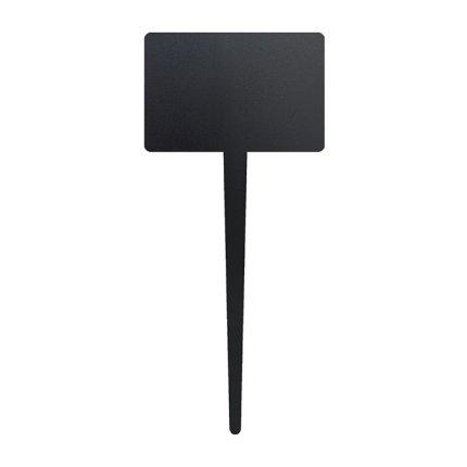 Set 5 table de scris Securit Silhouette Tag 18x8x0,1cm, include marker creta, negru
