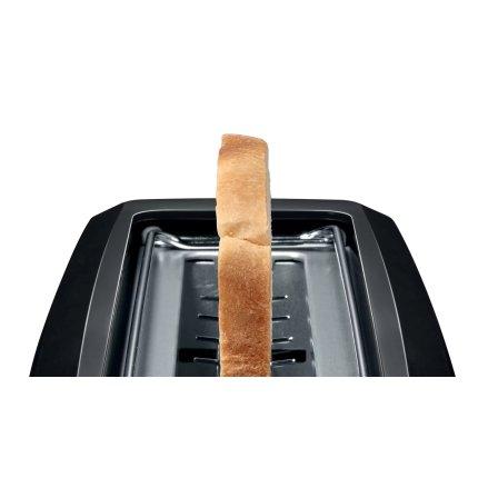 Prajitor de paine Bosch CompactClass TAT3A003 long slot, suport chifle, sertar firimituri, negru