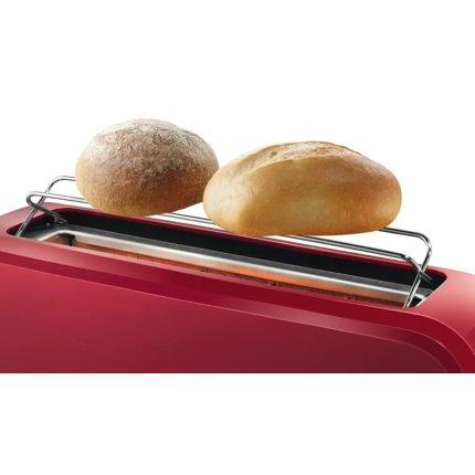 Prajitor de paine Bosch CompactClass TAT3A004 long slot, suport chifle, sertar firimituri, rosu